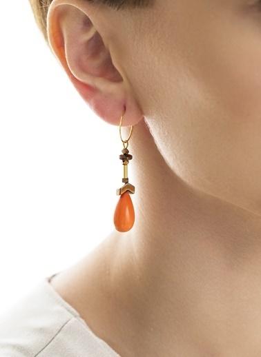 Amulette Jewel Küpe Oranj